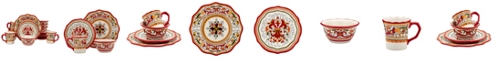 Maison Versailles Tabletops Unlimited San Marino Red 16PC Dinnerware Set