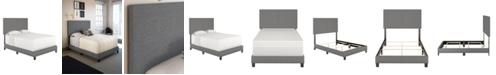Ultima Morganford Queen Size Upholstered Linen Padded Platform Bed Frame