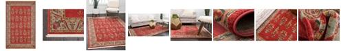 """Bridgeport Home Ojas Oja1 Red 3' 3"""" x 5' 3"""" Area Rug"""