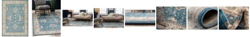Bridgeport Home Bellmere Bel5 Light Blue 7' x 10' Area Rug
