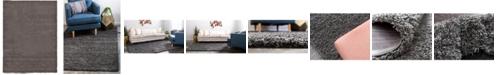 Bridgeport Home Exact Shag Exs1 Graphite Gray 8' x 11' Area Rug