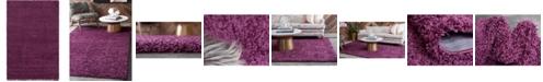 Bridgeport Home Exact Shag Exs1 Eggplant Purple 6' x 9' Area Rug