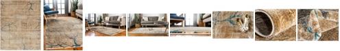 Bridgeport Home Aroa Aro1 Light Brown 8' x 10' Area Rug