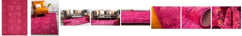 Bridgeport Home Sana San4 Fuchsia 7' x 10' Area Rug
