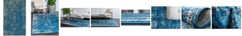 Bridgeport Home Basha Bas1 Blue 5' x 8' Area Rug