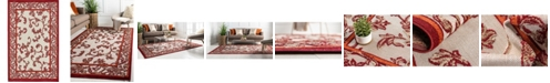 Bridgeport Home Pashio Pas4 Beige/Terracotta 5' x 8' Area Rug