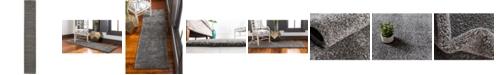 """Bridgeport Home Uno Uno1 Gray 2' 2"""" x 13' Runner Area Rug"""