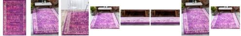 Bridgeport Home Linport Lin1 Lilac 5' x 8' Area Rug