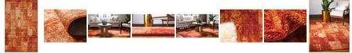 Bridgeport Home Jasia Jas07 Terracotta 5' x 8' Area Rug