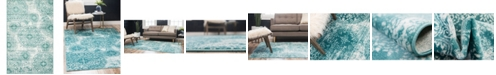 Bridgeport Home Basha Bas7 Turquoise 5' x 8' Area Rug