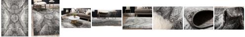 Bridgeport Home Basha Bas3 Dark Gray 8' x 11' Area Rug