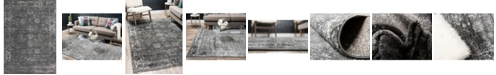 Bridgeport Home Basha Bas1 Dark Gray 7' x 10' Area Rug