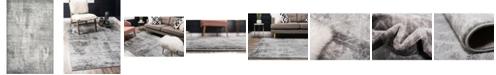 "Bridgeport Home Basha Bas6 Dark Gray 3' 3"" x 5' 3"" Area Rug"