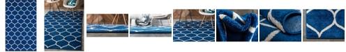 Bridgeport Home Plexity Plx2 Navy Blue 5' x 8' Area Rug