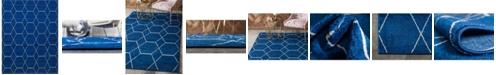 Bridgeport Home Plexity Plx1 Navy Blue 8' x 10' Area Rug