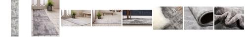 "Bridgeport Home Basha Bas6 Dark Gray 3' 3"" x 16' 5"" Runner Area Rug"