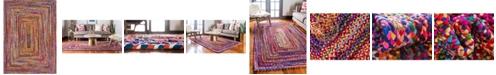 Bridgeport Home Roari Cotton Braids Rcb1 Multi 10' x 14' Area Rug