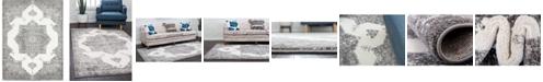 Bridgeport Home Mishti Mis6 Gray 8' x 10' Area Rug