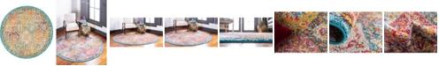 "Bridgeport Home Lorem Lor2 Multi 3' 3"" x 3' 3"" Round Area Rug"