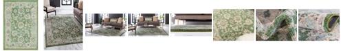 "Bayshore Home Bridgeport Home Lorem Lor3 Green 2' 2"" x 3' Area Rug"