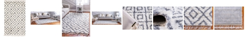 Bridgeport Home Lochcort Shag Loc2 Ivory 5' x 8' Area Rug
