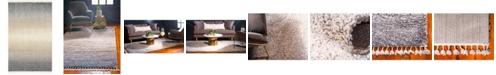 Bridgeport Home Lochcort Shag Loc5 Gray 5' x 8' Area Rug