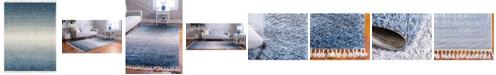 Bridgeport Home Lochcort Shag Loc5 Blue 9' x 12' Area Rug