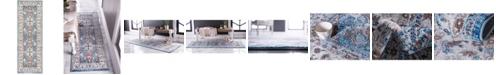 "Bridgeport Home Wisdom Wis2 Light Blue 2' 2"" x 6' Runner Area Rug"