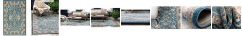 Bridgeport Home Bellmere Bel6 Light Blue 2' x 3' Area Rug
