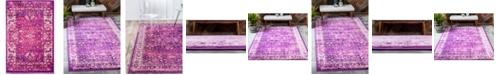 Bridgeport Home Linport Lin1 Lilac 2' x 3' Area Rug