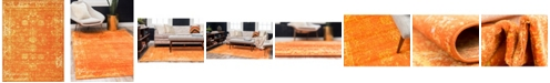 Bridgeport Home Basha Bas1 Orange 9' x 12' Area Rug