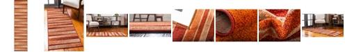 """Bridgeport Home Jasia Jas12 Rust Red 2' 6"""" x 10' Runner Area Rug"""