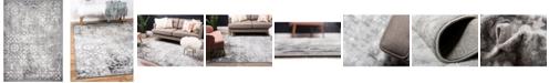 Bridgeport Home Basha Bas5 Dark Gray 8' x 11' Area Rug