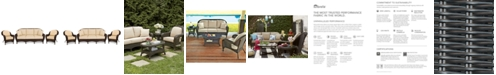 Furniture Monterey Outdoor Wicker 3-Pc. Seating Set with Sunbrella® Cushions  (1 Sofa and 2 Club Chairs), Created for Macy's