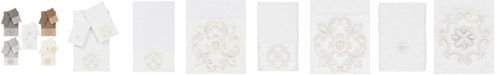 Linum Home 100% Turkish Cotton Alyssa 3-Pc. Embellished Towel Set