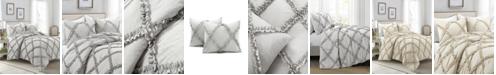 Lush Decor Ruffle Diamond 3-Piece King Comforter Set