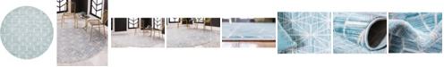 Jill Zarin Fifth Avenue Uptown Jzu002 Blue 8' x 8' Round Rug
