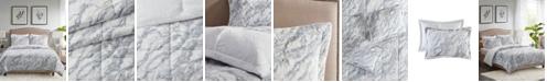 Madison Park Lana Marble Faux Fur 3-Piece King Comforter Set