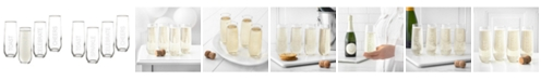 Cathy's Concepts Celebrate Stemless Champagne Flutes - Set of 4