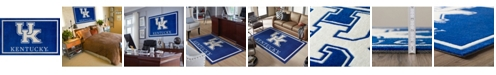 """Luxury Sports Rugs Kentucky Colky Blue 5' x 7'6"""" Area Rug"""