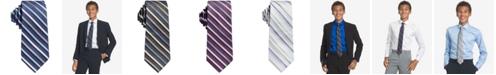 Tommy Hilfiger Calvin Klein Big Boys Gemstone Striped Zipper Necktie