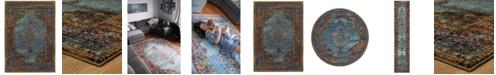 "JHB Design Macy's Fine Rug Gallery Journey Ardebil Blue 10' x 13' 2"" Area Rug"