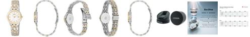 Citizen Women's Eco-Drive Two Tone Stainless Steel Bracelet Watch 25mm EW1264-50A