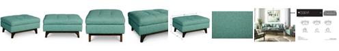 Furniture Nari Fabric Tufted Ottoman, Created for Macy's