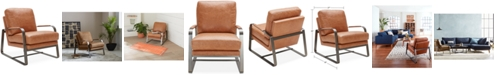 Furniture Jollene Leather Accent Chair