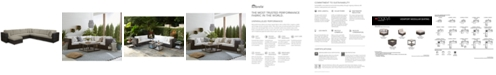 Furniture Viewport Outdoor 8-Pc. Modular Seating Set (3 Corner Units, 4 Armless Units and 1 Ottoman), with Sunbrella® Cushions, Created for Macy's