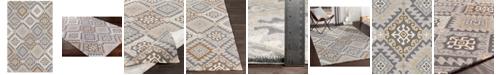 Surya Rain RAI-1278 Charcoal 8' x 10' Area Rug, Indoor/Outdoor