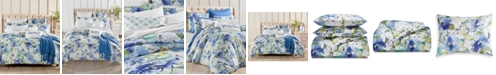 Charter Club Sketch Floral Cotton 300 Thread Count 2-Pc. Twin Duvet Cover Set, Created for Macy's