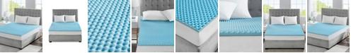 """Sleep Philosophy Flexapedic by 1.5"""" Gel-Infused Memory Foam Twin Mattress Topper"""