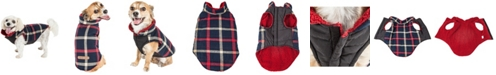 Pet Life Central Pet Life 'Allegiance' Classical Plaided Insulated Dog Coat Jacket